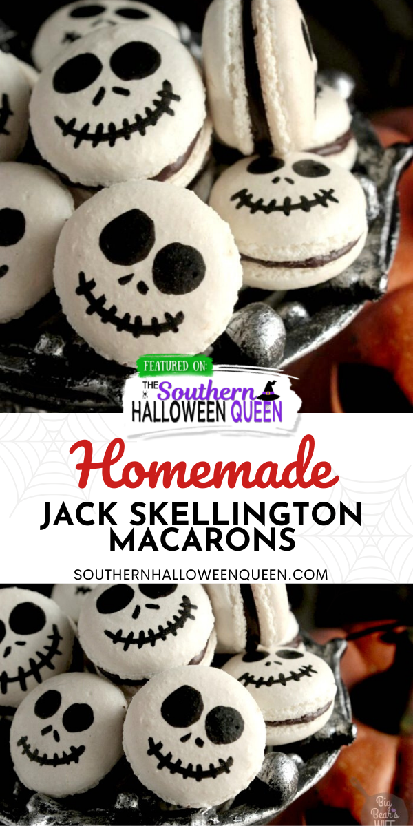 Halloween 2020 Queen Of The South Jack Skellington Macarons | The Southern Halloween Queen | Recipe
