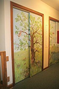 Closet Door Murals Closet Door Mural Two Sliding Closet