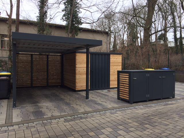 Carport gartenhaus mülltonnenbox gardening müllbox von siebau
