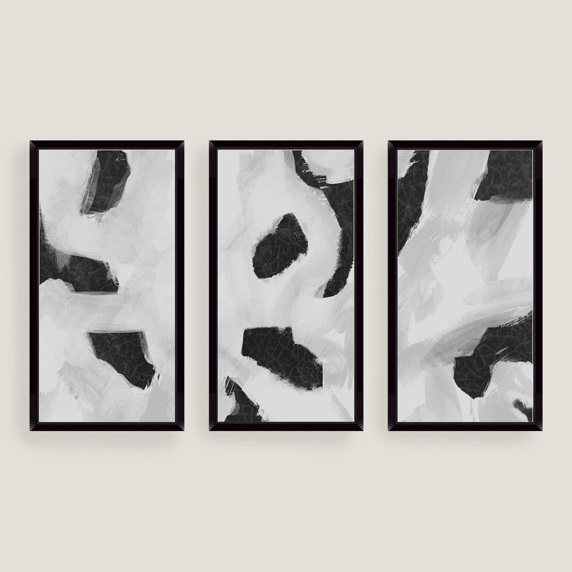 The Three Abstract Pieces Come Together To Create A Dramatic