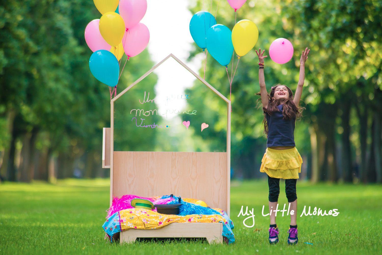 #Mylittlemômes #lit #cabane #têtedelit #tableau #acrylique  #maison #chambre #enfants #décoration #meubles #unjourmonprinceviendra #bois #livres #lecture #têtedelit #prince #princesse #copines #filles #ballons #pompomgirls #pompons #joie #amitié #bonheur