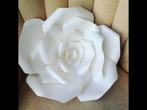 Diy Large Paper Rose Youtube Fit Paper Flowers Papier Fleurs