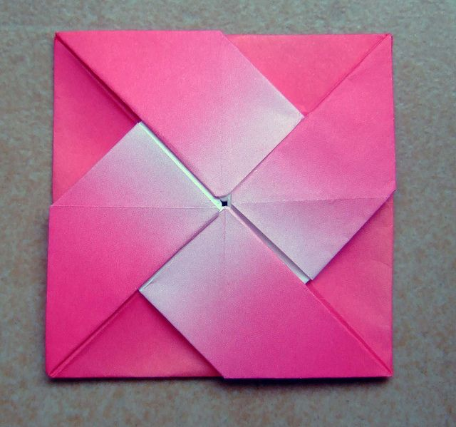 origami windmill letter fold flickr photo sharing