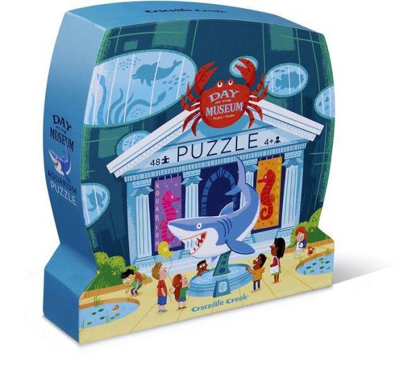 Day At The Museum Aquarium 48 Pc Puzzle Museum Whimsical Illustration