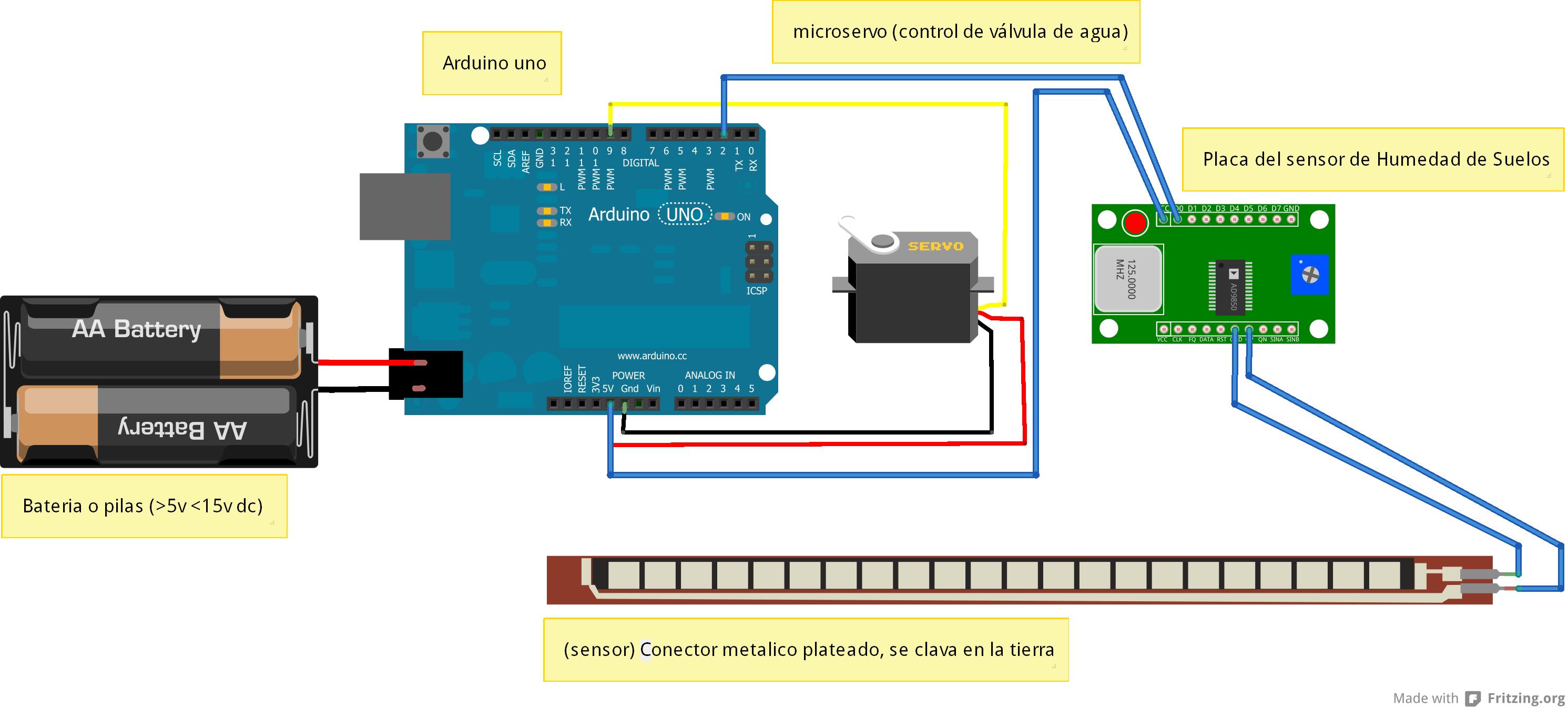Riego automatico con arduino bb y sensor de humedad - Kit de riego automatico ...