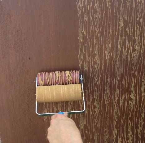 Patterned Paint Roller In Woodgrain With By Notwallpaper On Etsy