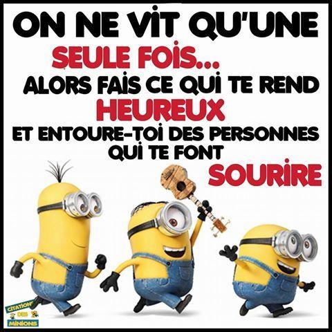 Pin by chanelle girard on yolo citation minion blague minion dr le - Les minions amoureux ...