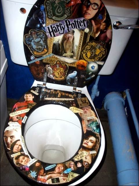 Harry Potter Toilet Seat Cover Velcromag