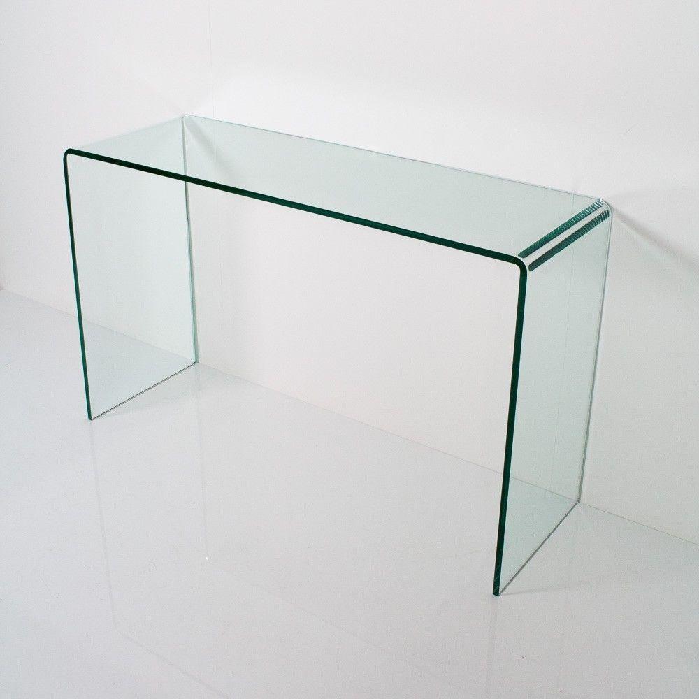 Consolle In Vetro Per Ingresso.Detalles De Group Design Consolle Smalle Vetro Trasparente