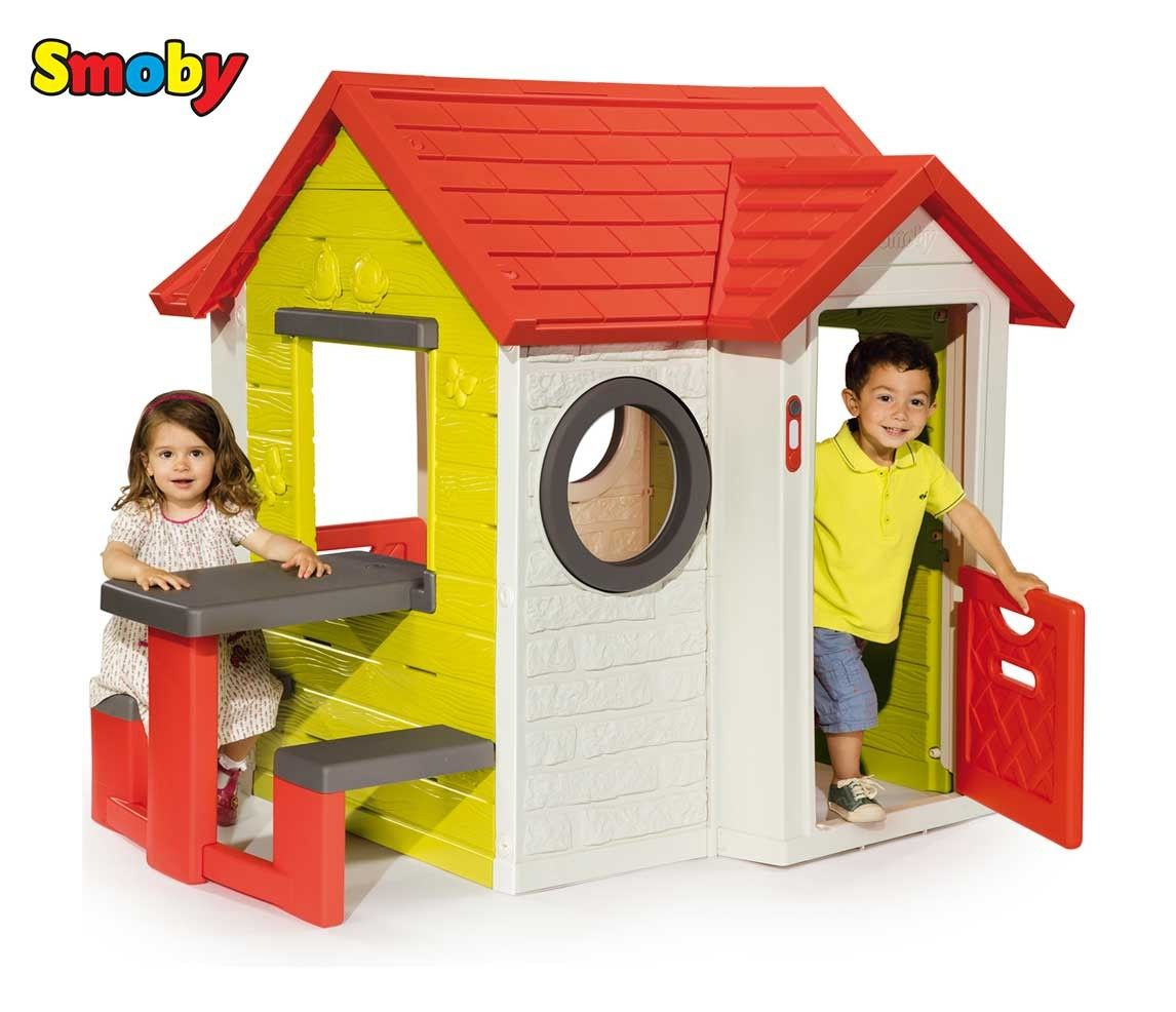 Garden House Smoby For Children My House with a table