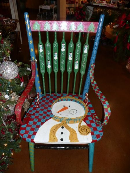 Cool Handpainted Christmas Chairs Bing Images Christmas Chair Machost Co Dining Chair Design Ideas Machostcouk