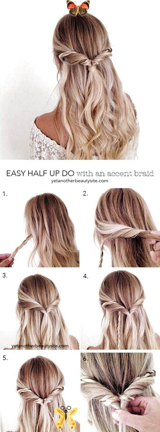 60 Easy Updo Hairstyles For Medium Length Hair In 2019 Discover Easy And Cute Up Br In 2020 Medium Length Hair Styles Long Hair Styles Simple Prom Hair