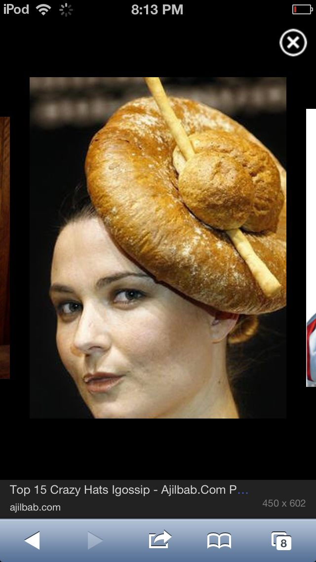 It s a bread hat!!!!  5cdf57390