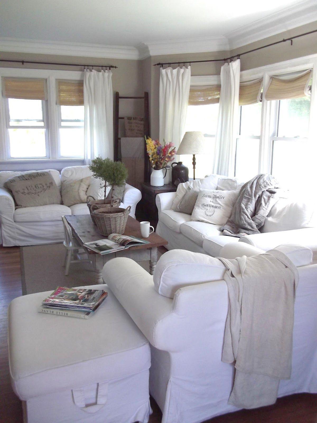 Rustic Farmhouse: In The Livingroom Today | Farmhouse ... on Farmhouse Curtain Ideas For Living Room  id=43148