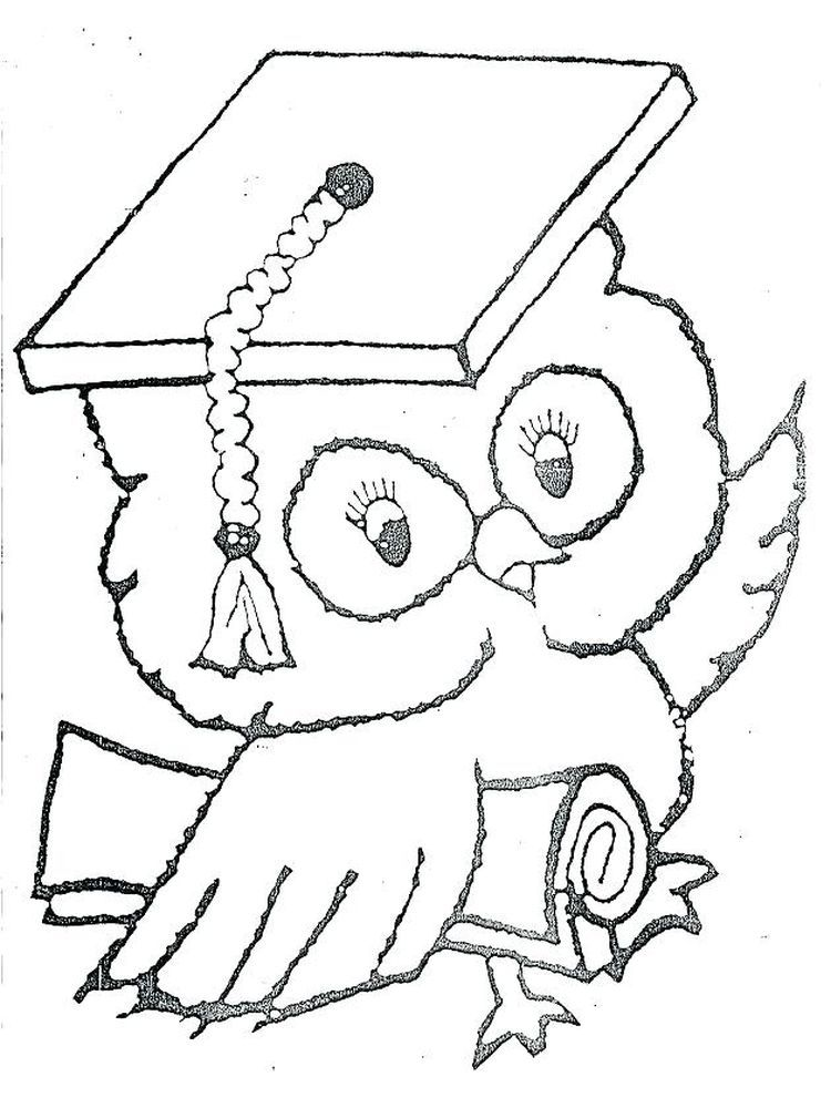 Coloring Pages For Graduation Graduation Day Is A Day That Students Always Look Forward To Whether It S High S Owl Coloring Pages Coloring Pages Owls Drawing