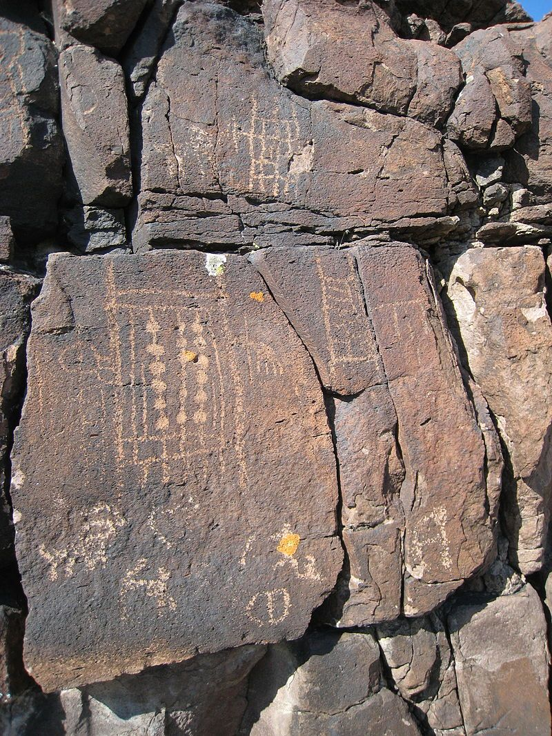 Black Canyon Petroglyphs in Lincoln County, Nevada.