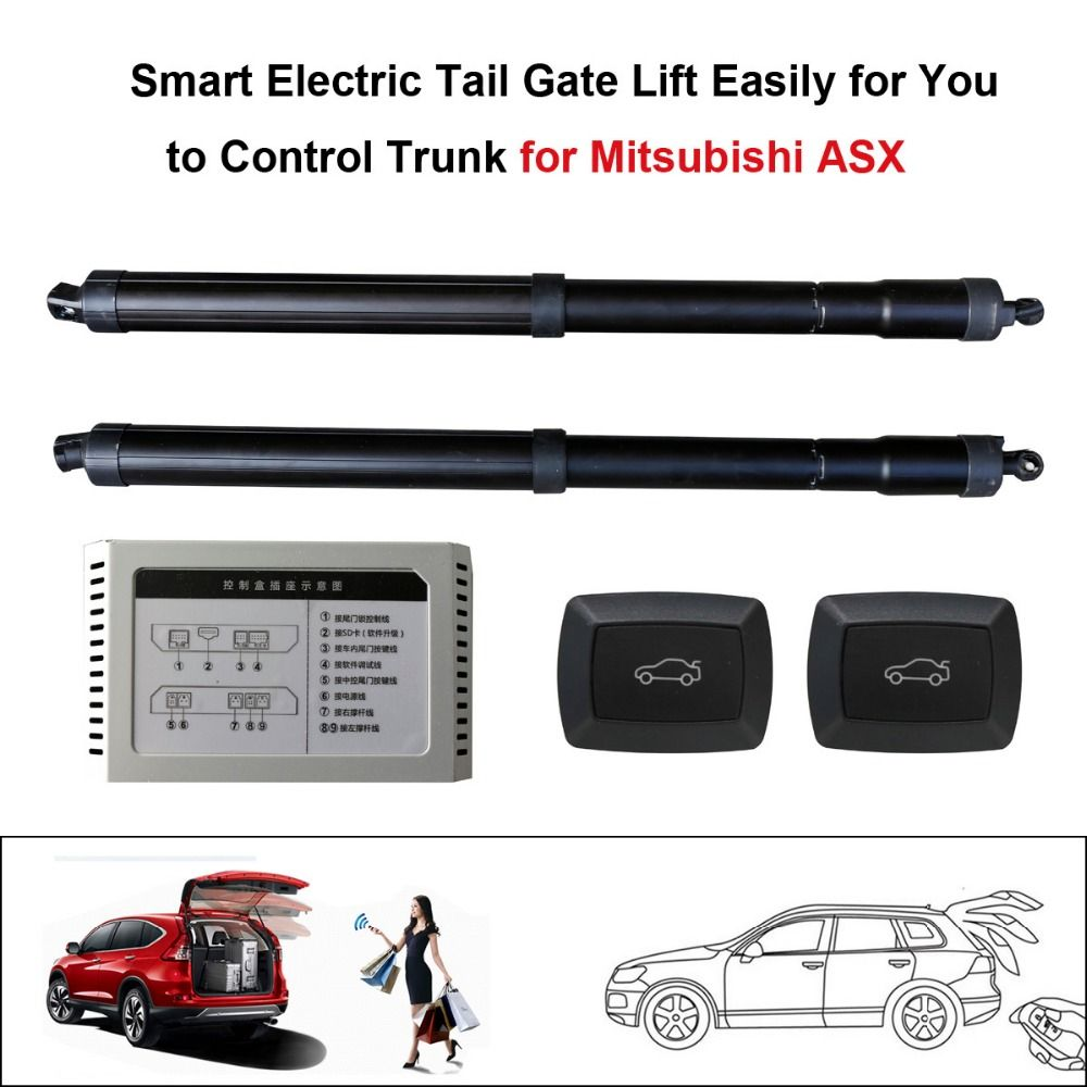 Smart auto electric tail gate lift for mitsubishi asx control by remote drive seat tail