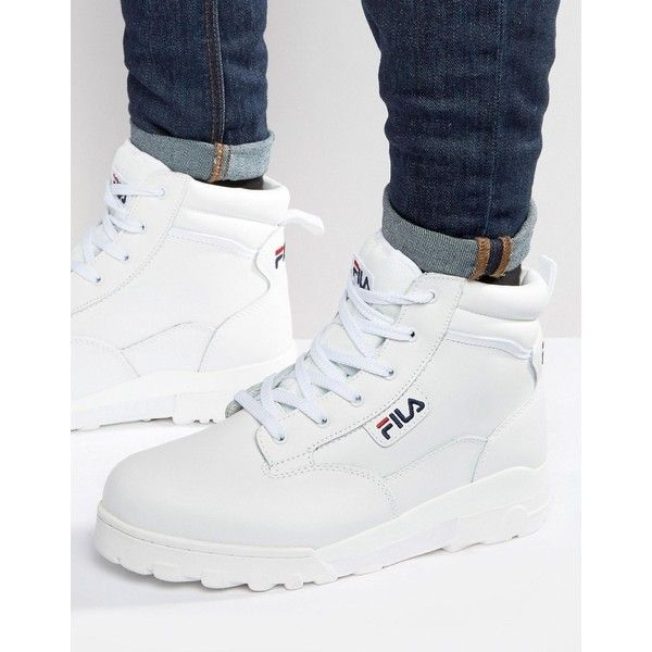 a37e2691ef5a Fila Grunge Mid Laceup Boots (£120) ❤ liked on Polyvore featuring men s  fashion