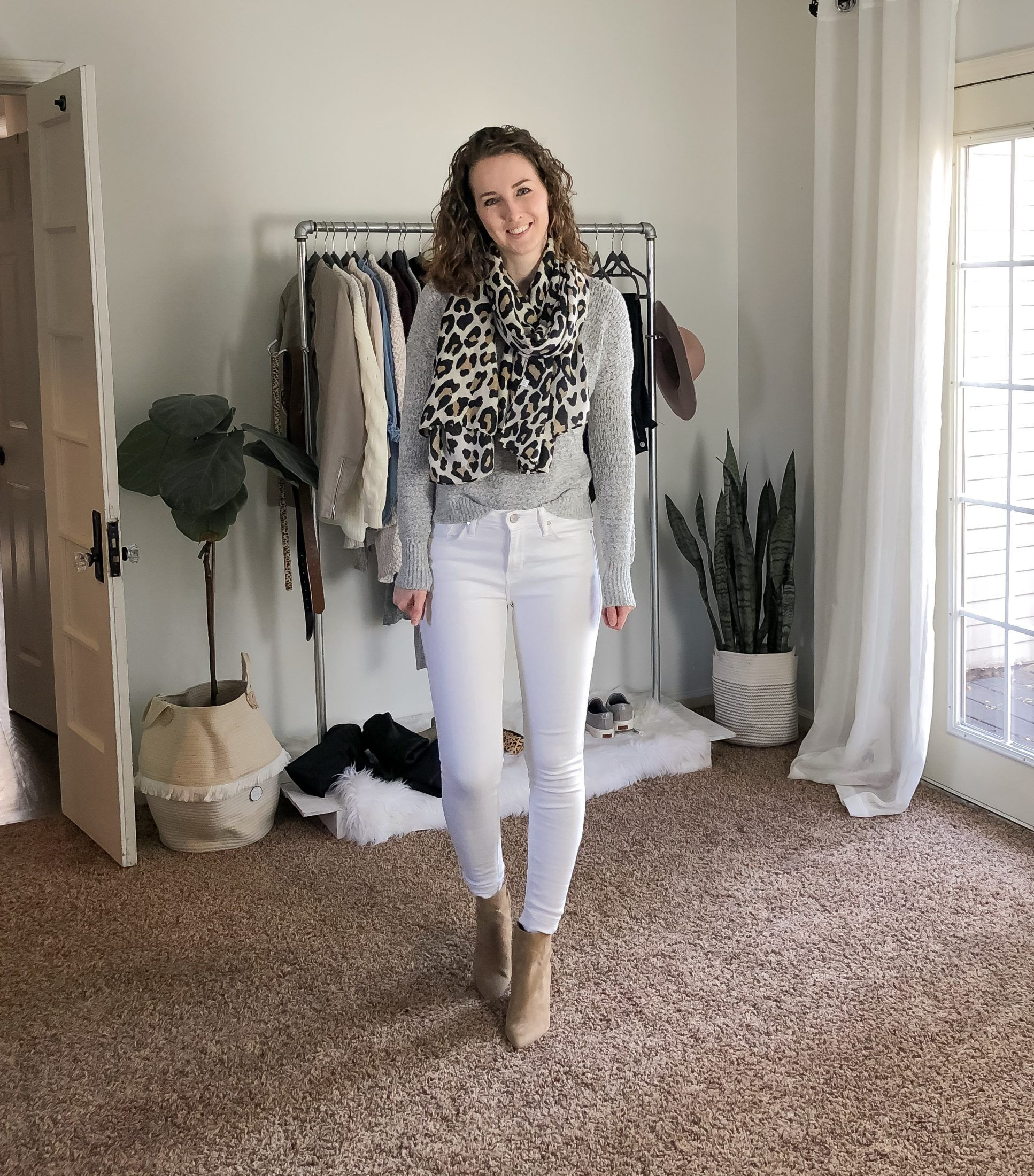 Grey Sweater Outfit - Capsule Wardrobe Edition - Dani Thompson