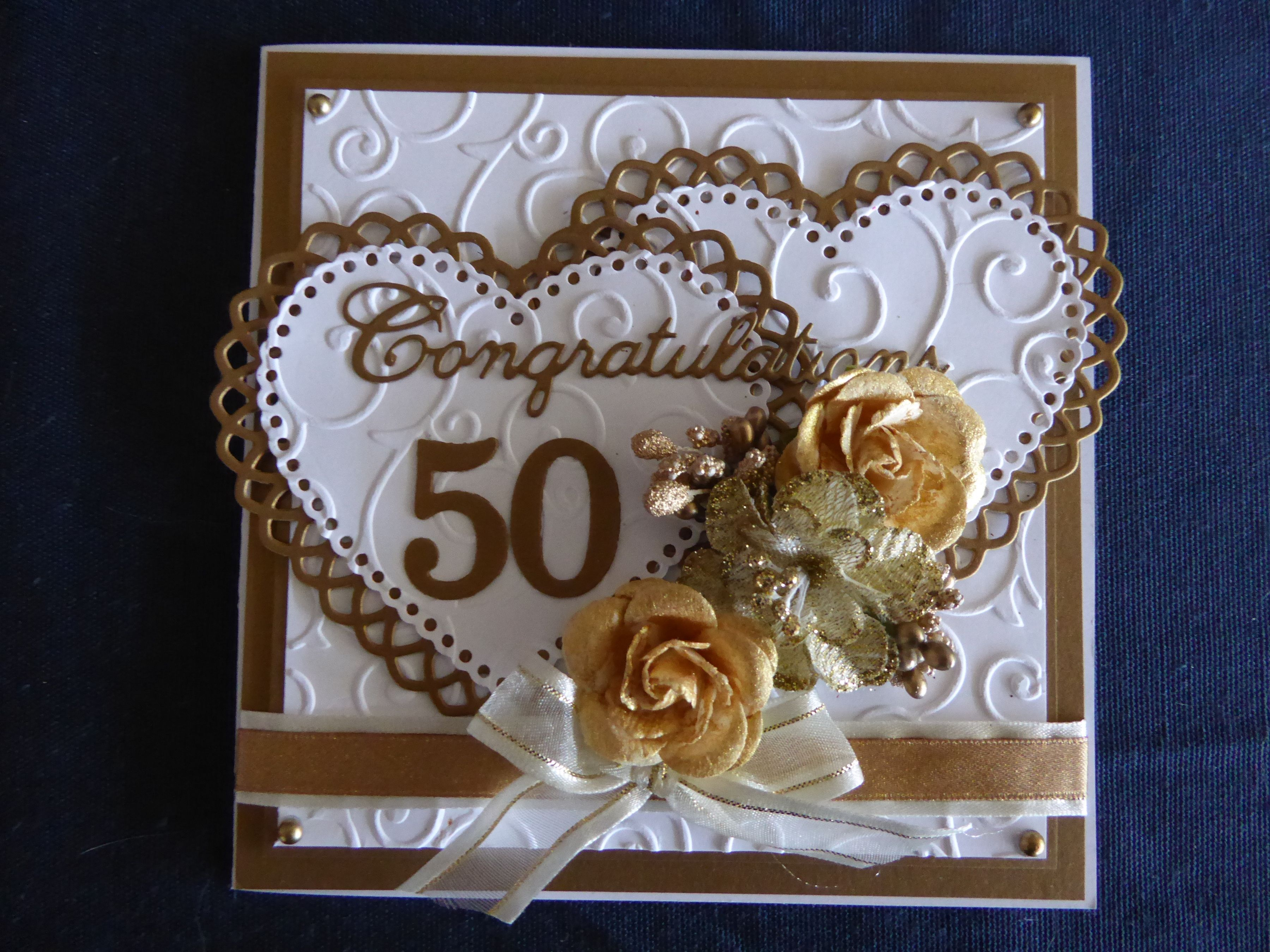 Летием, открытка своими руками на 50 лет свадьбы