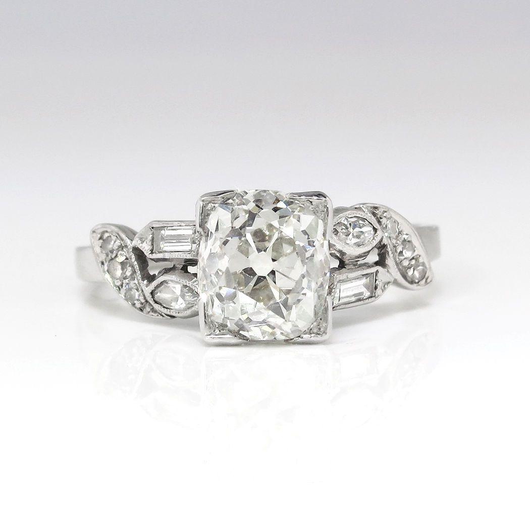 Antique vintage engagement rings rings pinterest cushion cut