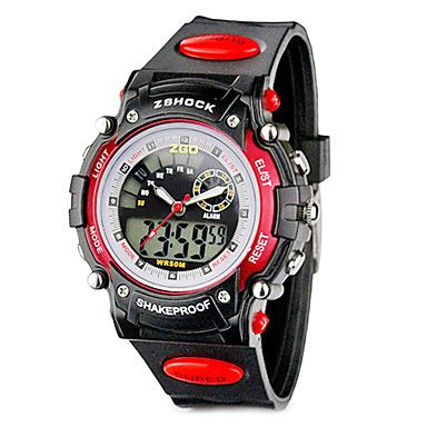 ZGO Childrens/Mens LED Dial Silicone Band Quartz Analog Water Resistant Sport Wrist Watch http://mxpi.co.nf/?item=1066159