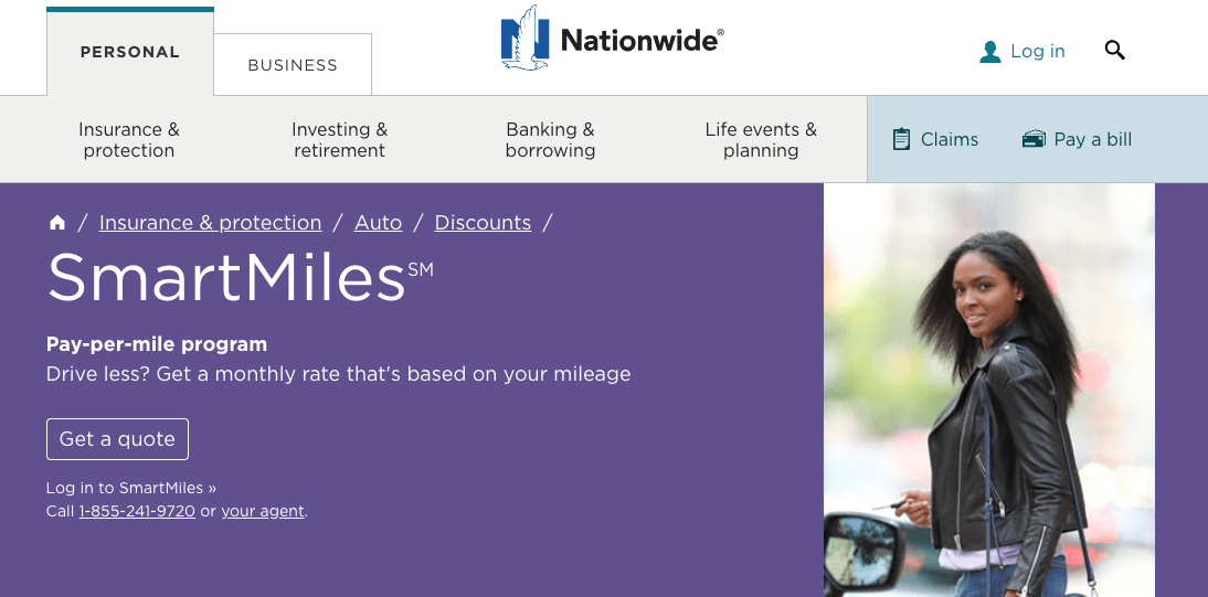 Nationwide Launches Smartmiles In 2020 Cheap Car Insurance Quotes Auto Insurance Quotes Business Person