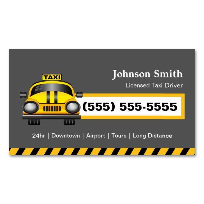 Urban Taxi Driver Chauffeur Yellow Cap Business Card Zazzle Com Taxi Driver Taxi Business Cards