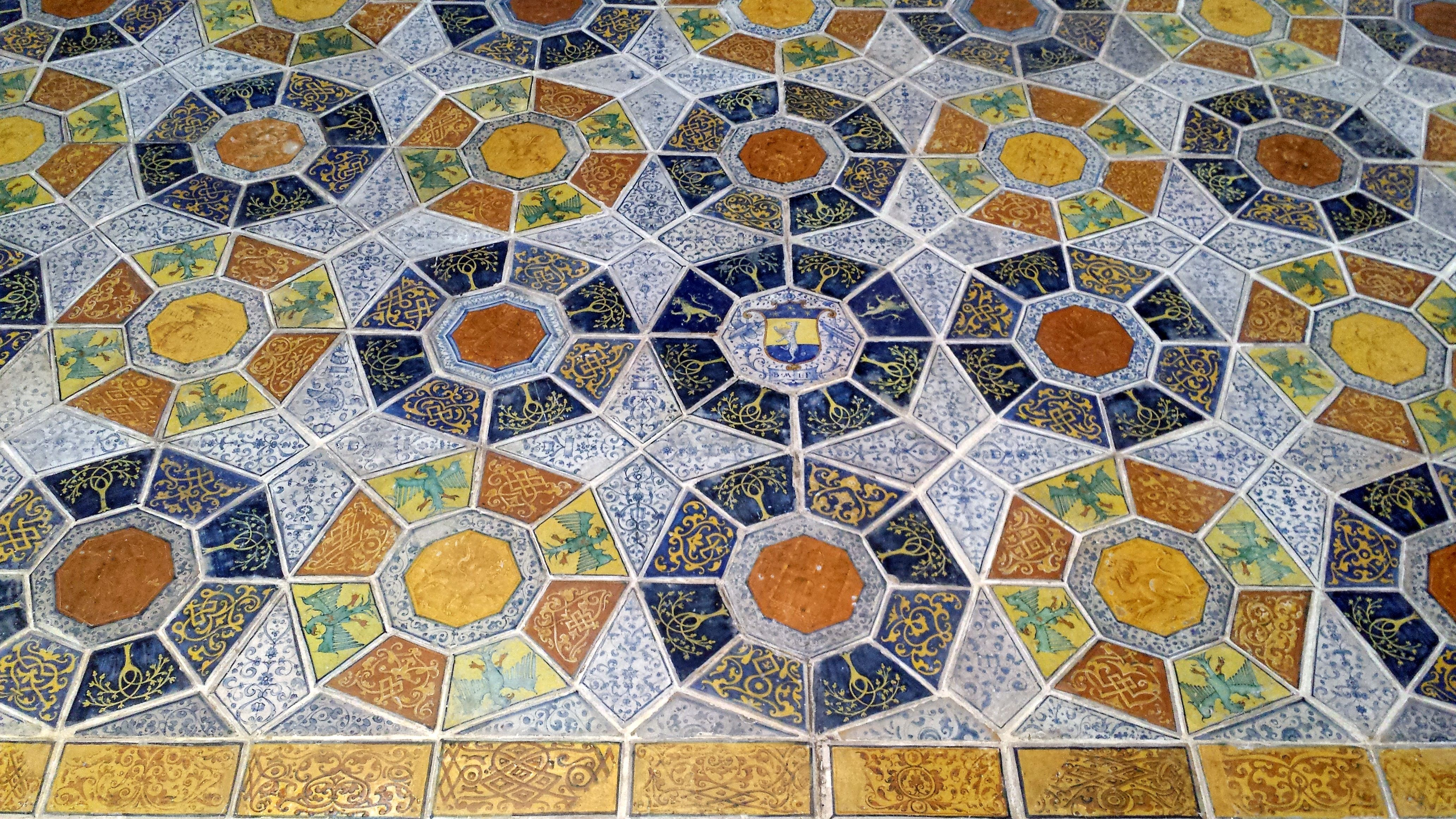 Va museum london a detail of the ceramic tile floor of the church va museum london a detail of the ceramic tile floor of the church of san francesco dailygadgetfo Images
