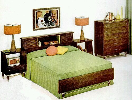 A Bedroom From 1956 Retro Room Vintage 1950s