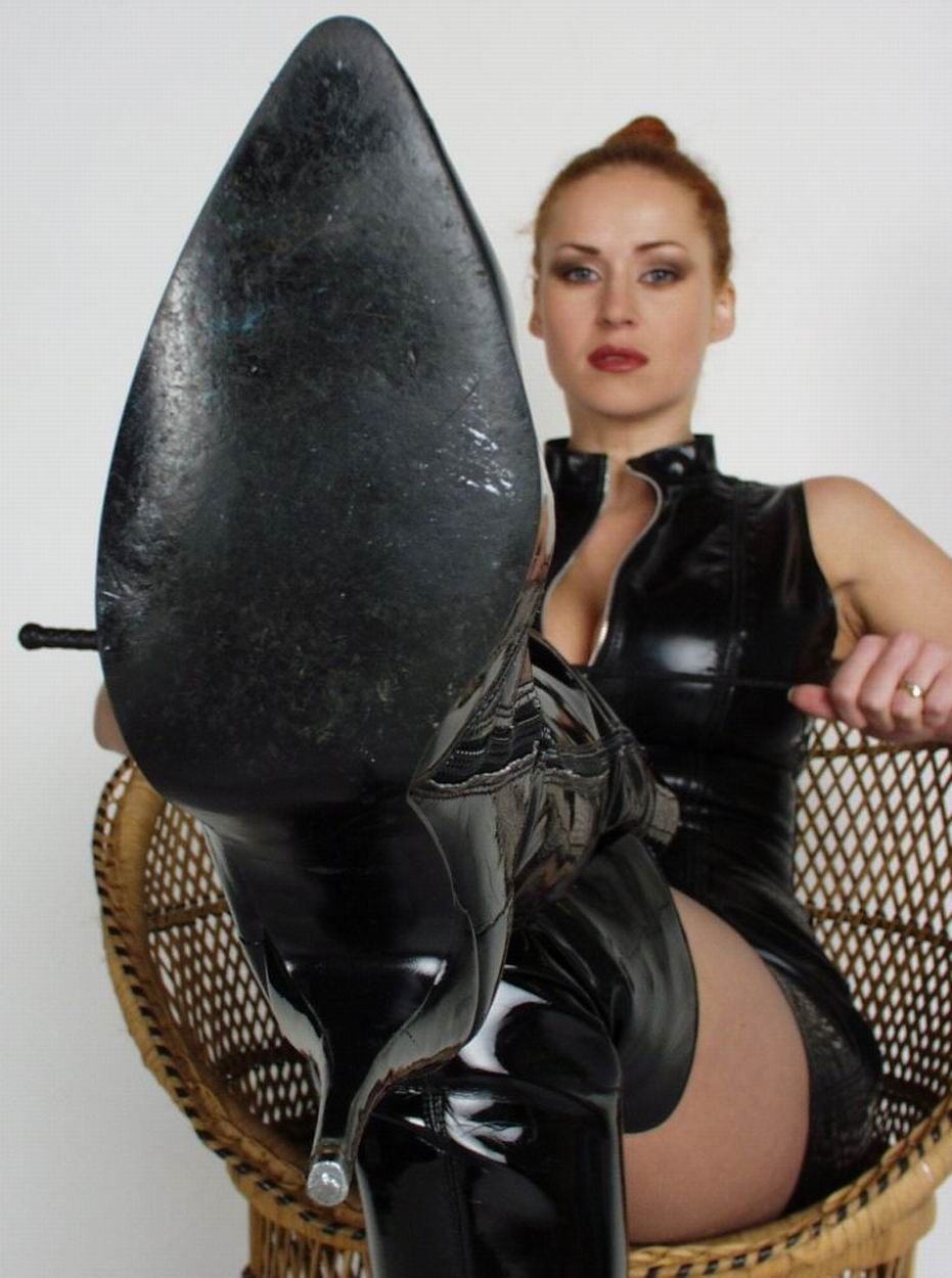fetish woman lick boot shoe