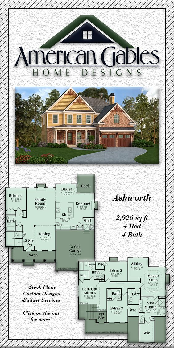 Traditional Plan 2926 square feet, 4 bedrooms, 4 bathrooms