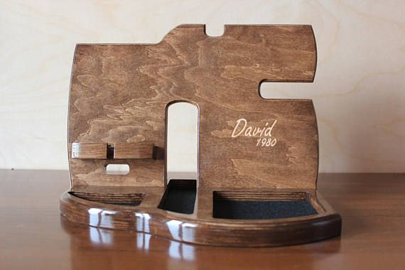 Personalized men docking station Gift for Man Christmas gift docs