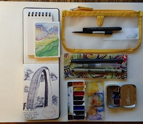 Art On The Road Traveling With A Watercolor Journal Plus What I