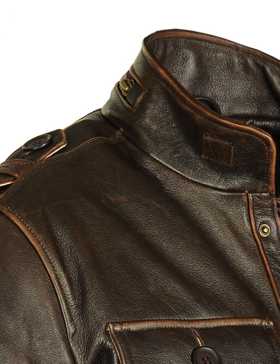 4816731a7c4 Кожаная полевая куртка М65 - детали воротника
