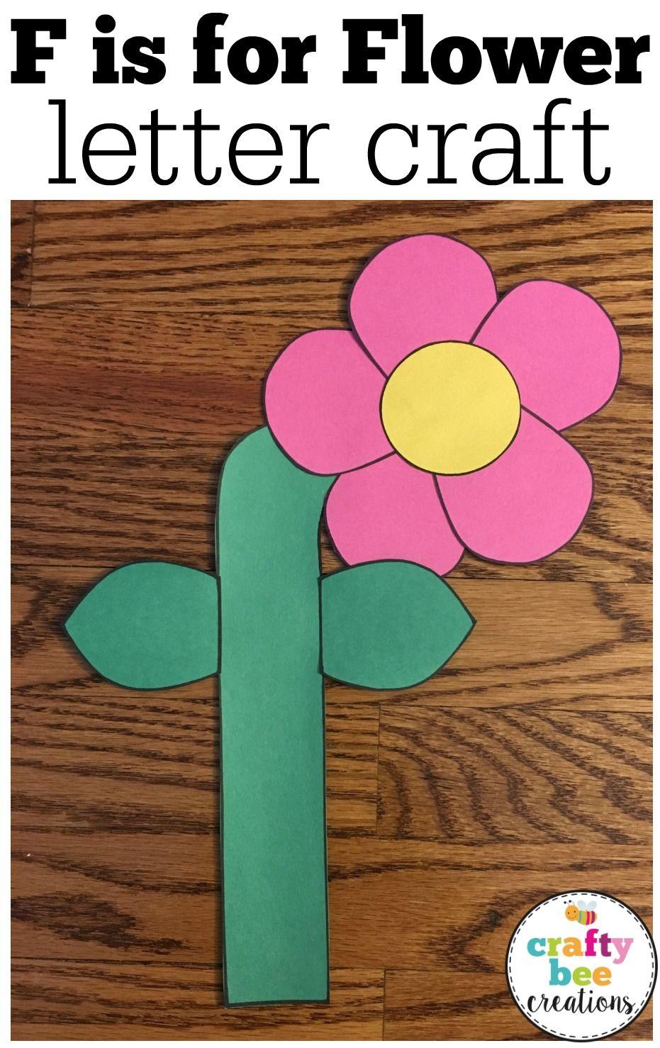 Letter F Craft {Flower} Letter a crafts, Letter f craft