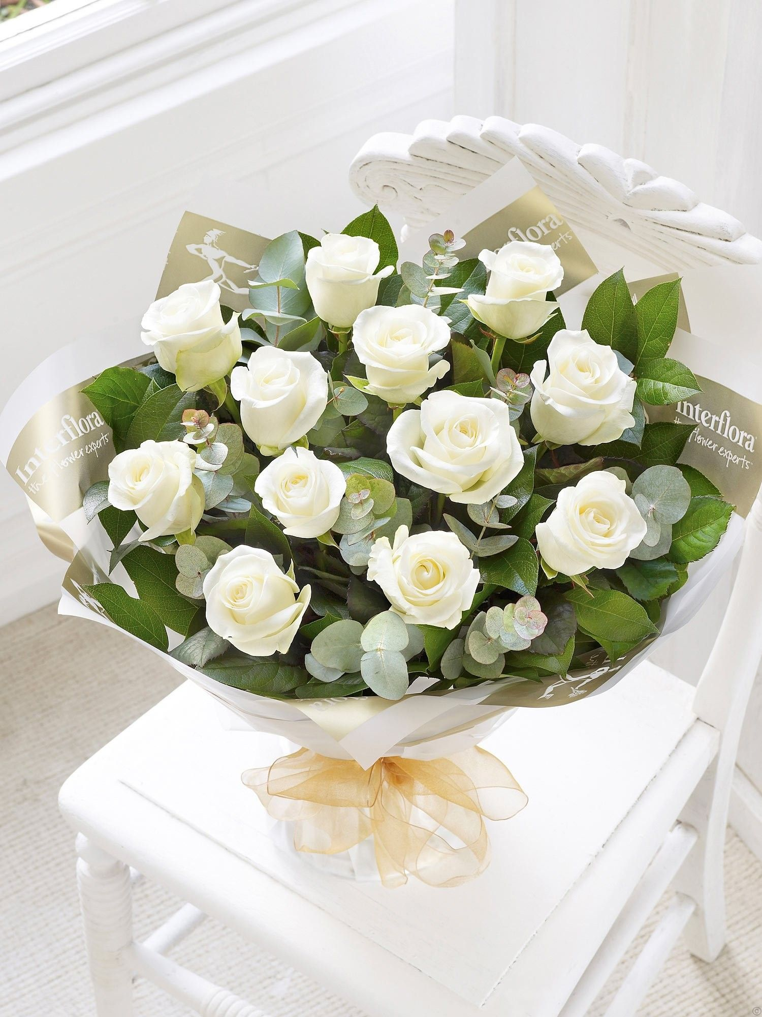 Heavenly Rose With Eucalyptus   Get well flowers ...