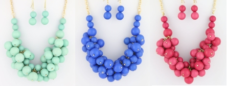 Chunky Bubble Necklace Set from Bijoux Boutique