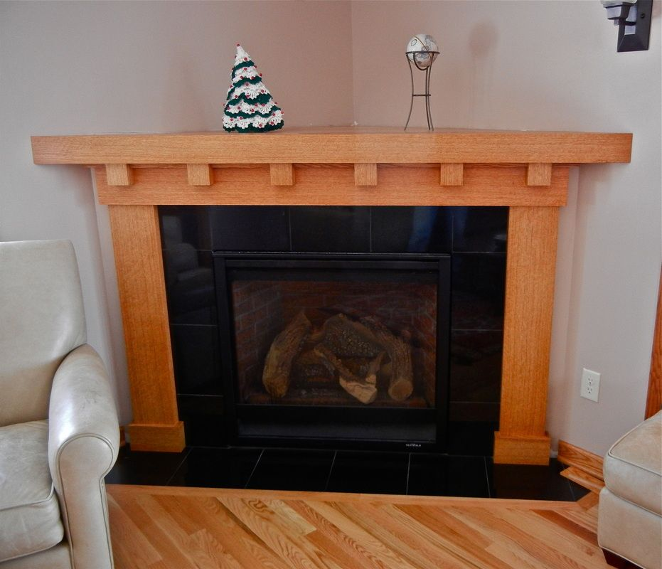 Mission Style Fireplace Mantel  Pinterest