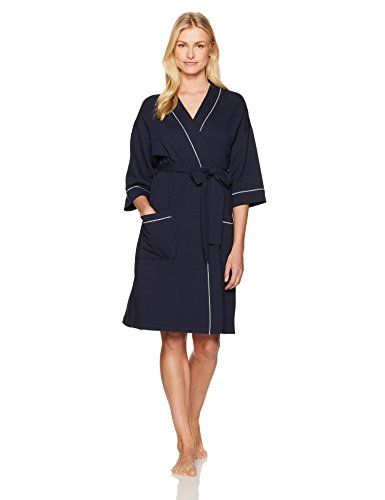 d58f0a0ab8 Mae Women s French Terry Kimono Knee-Length Robe