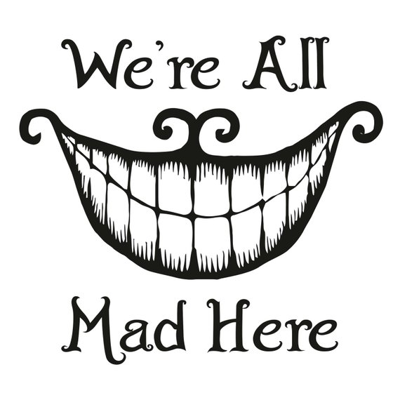 Cheshire Cat Smile Alice In Wonderland Wall Decal Quote