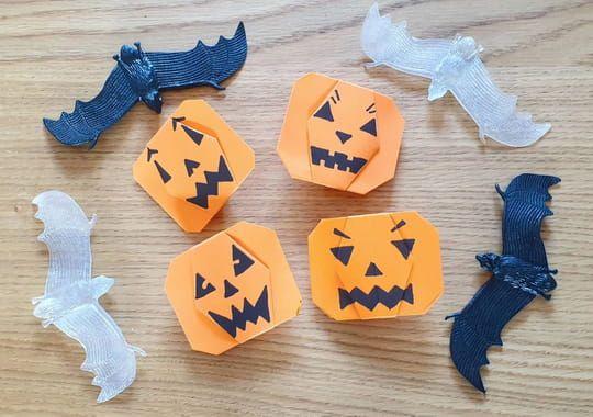 Citrouille en origami pour Halloween, pliage papier [VIDEO] #citrouilleenpapier