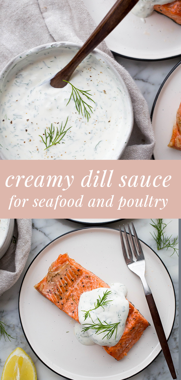 Creamy Dill Sauce For Salmon Easy Healthy Recipes Recipe In 2020 Sauce For Salmon Dill Sauce Creamy Dill Sauce