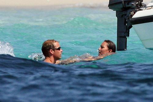 Prince William and Kate Middleton on holiday in Ibiza Spain on September 1, 2006.