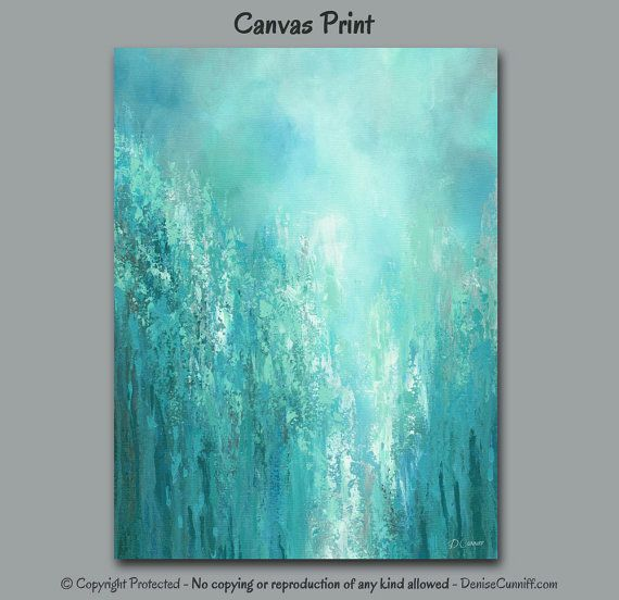 Abstract Teal Wall Art Canvas Print Turquoise Blue Green Teal Etsy In 2020 Teal Wall Art Blue Wall Art Bedroom Paint Colors