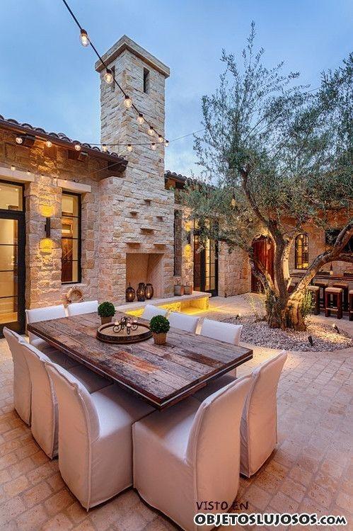 Casas rusticas con patios internos pesquisa google p tio - Patios de casas rusticas ...