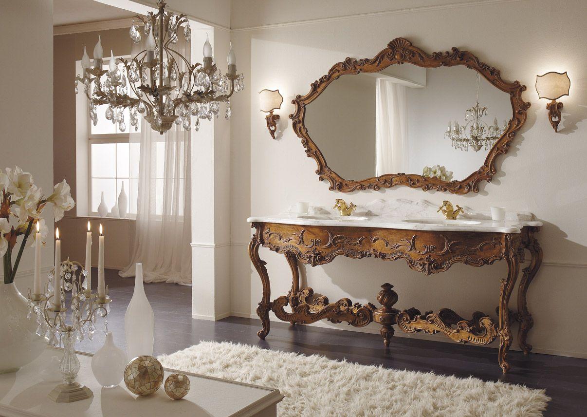 badezimmer m bel massiv holz bad italien barock nostalgie. Black Bedroom Furniture Sets. Home Design Ideas