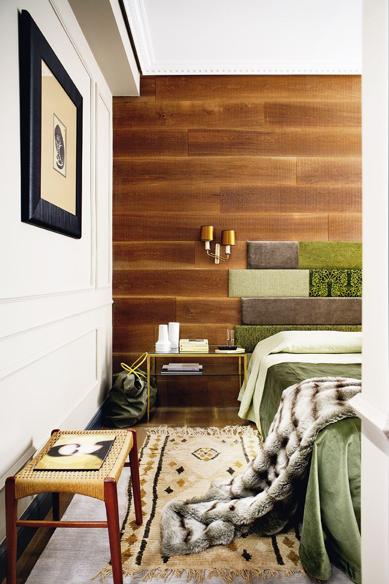 Good Wood Paneling Wall Fabric Headboard Pieces   Home Decorating Trends    Homedit Design Ideas