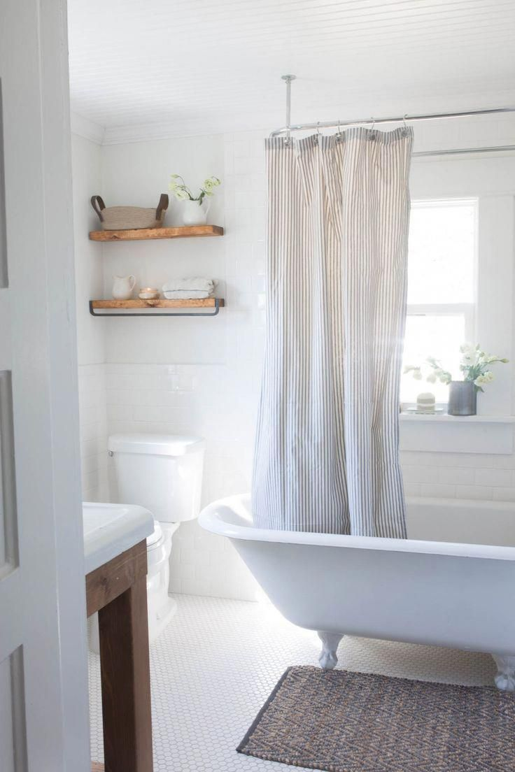Shelves Floating In The Bathroom