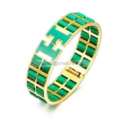 nouveau style inspiré hermes bracelet vert populaire #bijouxhermes #bracelethermes #repliquehermesbijoux